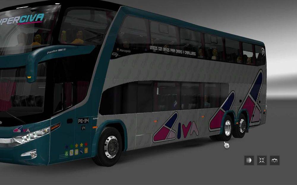 Marcopolo G7 DD 1800 6x2 для Euro Truck Simulator 2 - Скриншот 2