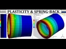ANSYS Material Non Linearity | Plastic Deformation Analysis | Spring Back Effect | GRS |