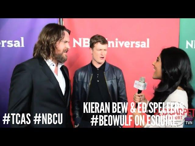 Kieran Bew Ed Speleers Beowulf at NBCUniversal's Winter 2016 Press TCA Tour NBCU TCA2016