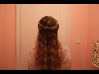 Two Grecian Style Updos, loosely based on the Rope Twist Crown Braid.