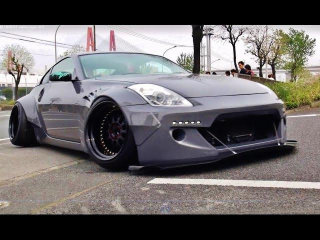 搬入動画⑥ wekfest japan 2016 車高短 シャコタン Lowered exhaust Low car
