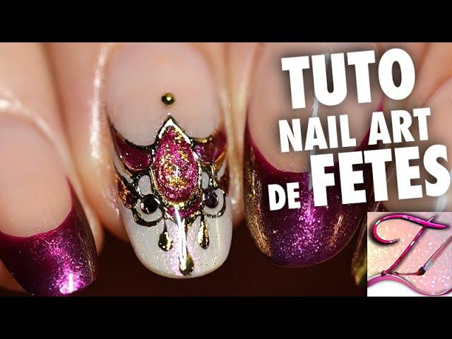 Tuto nail art spécial fêtes : bijou d'ongle chic luxe en gel foil