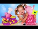 ✿ СВИНКА ПЕППА Магия для Детей КУХНЯ ПЕППЫ Варим Киндер и Конфеты Волшебство Дианы Kitchen Peppa Pig