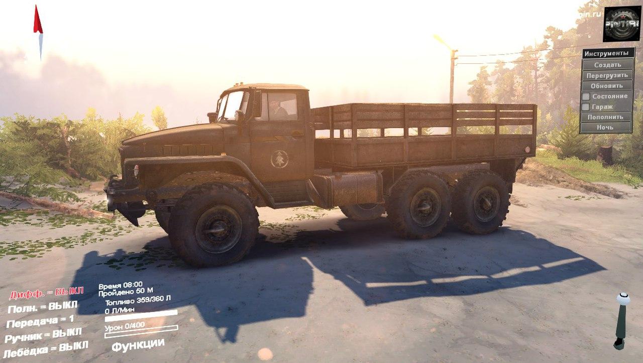 Урал 375 для 04.06.16 для Spintires - Скриншот 2