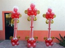 Como hacer una columna elegante para san valentin, bodas o XV años 19