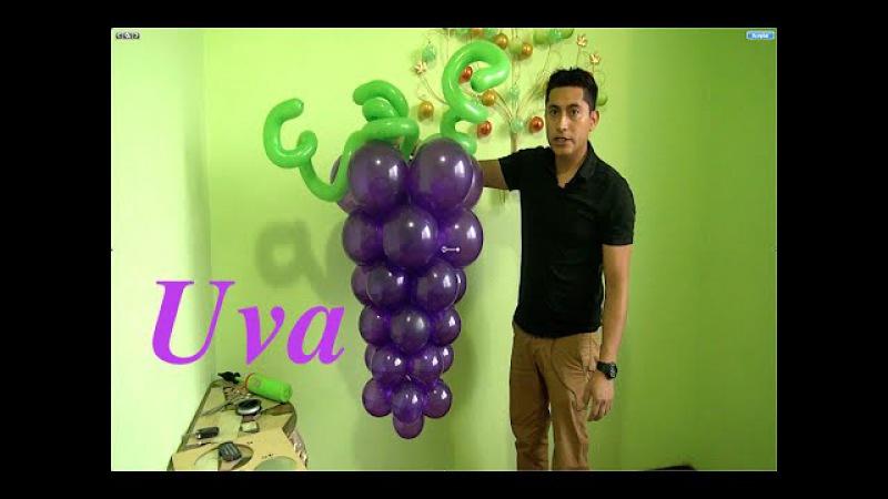 Racimo de uvas con globos para primera comunión fácil y económico 15