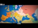 Как менялись границы в Европе за последние 1000 лет.