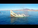 Тонущий военный корабль