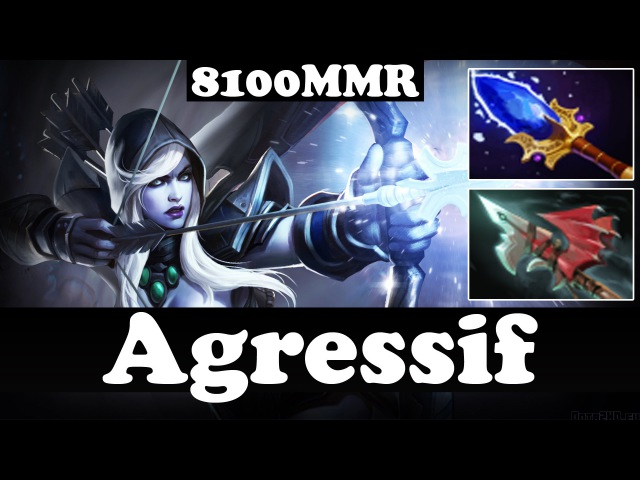 Agressif 8100 MMR Plays Drow Ranger WITH HURRICANE PIKE AND AGHANIM - Dota 2