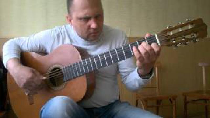 Белые розы на гитаре