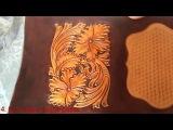 Покраска тиснения кожи антик пастой Fiebings Leather antiquing with Fiebings paste