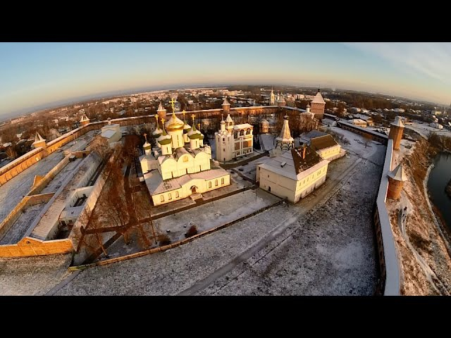 Золотое кольцо России Достопримечательности города СУЗДАЛЬ с высоты Квадрокоптер PHANTOM 2