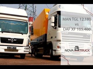 Обзор изотермического фургона MAN TGL 12.180 и грузовика рефрижератора DAF XF 105.460.