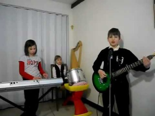 Adorable little kid band does a surprisingly good cover of a Rammstein song. Bonus points for little girl killing it on the drum