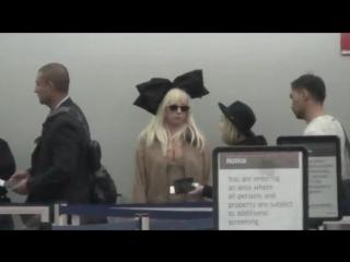 Леди Гага в аэропорту Нью-Йорка
