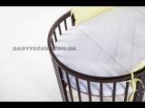 Овальная кроватка трансформер BabyKomfort 7 в 1