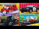 Мультик про машинки Мойка Автосервис Полицейская Пожарная машины Монстер трак Скорая помощь