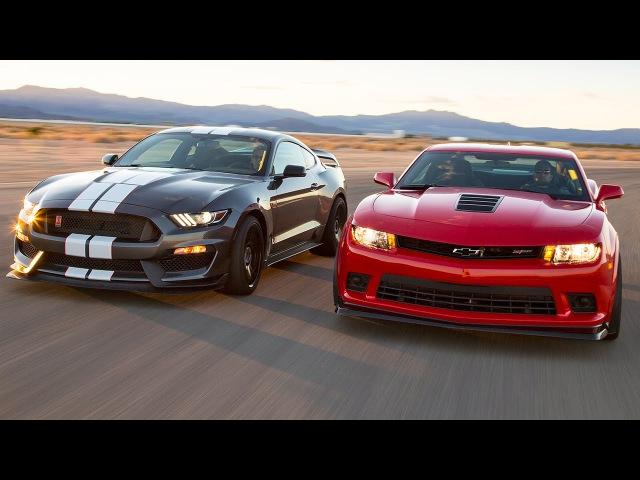 2016 Ford Mustang Shelby GT350R vs. 2015 Chevrolet Camaro Z/28 - Head 2 Head Ep. 71