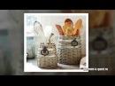 Плетёные короба и корзины из газет в интерьере