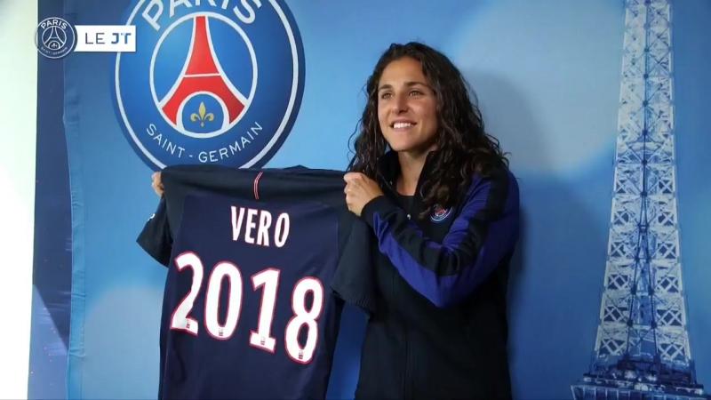 @VeroBoquete récente championne avec @FCBfrauen s'exprime au micro PSG.TV sur ses ambitions. PSG