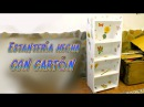 Tutorial mueble estantería hecha de cartón, manualidades baratas