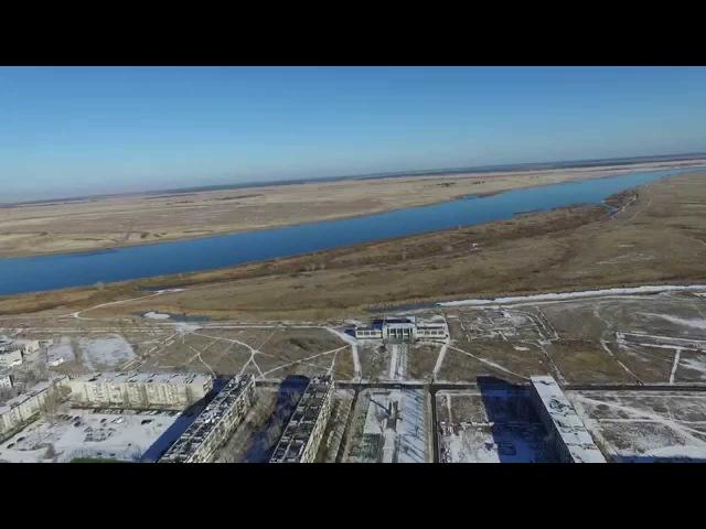 полет 12 11 15 над городком Курчатов (Семипалатинск 21)