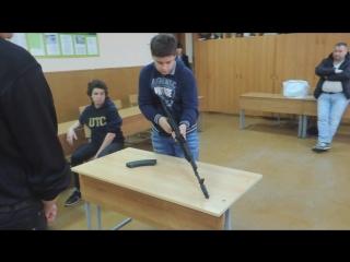 Чемпионат гимназии по скоростной разборке-сборке АК-103