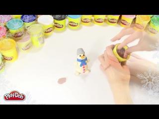 Как лепить снеговика из пластилина Play-Doh? Давайте узнаем!