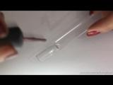 Дизайн ногтей под витражный гель с помощью обычного гель-лака. Маникюр с блестками-ромбиками