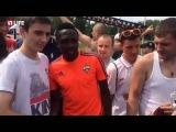 Как болельщики ЦСКА прощались с Мусой, улетающем в Лестер