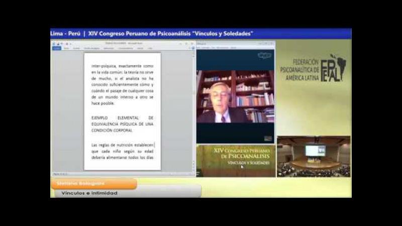 16 - Sábado 26 de Sep. Plenaria La Intimidad, Stefano Bolognini (Italia)