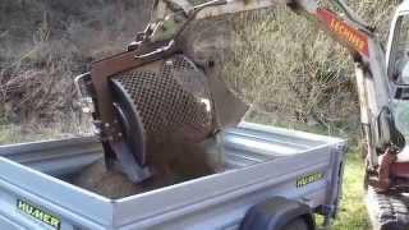 Minibagger Sieblöffel mit Takeuchi TB016 TB219 Humus screening bucket