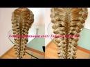 Комбинированная коса Техника трёх кос Видео урок Braid Trenza moderna