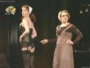 Анна Большова в черных чулках - спектакль Город миллионеров Ленком