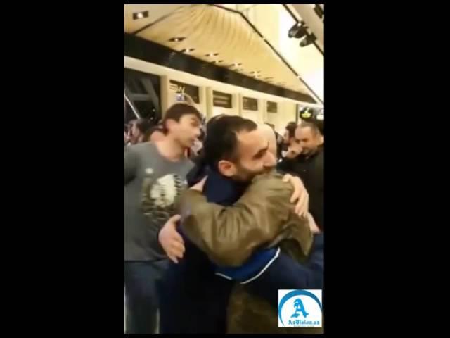 Ermenini meğlub eden Orxan Mehdiyev Bakıda | vk.com/mehelle