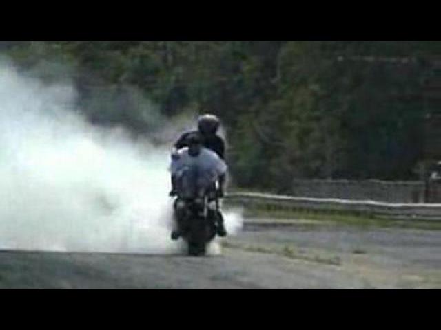 Неудачные трюки на мотоциклах
