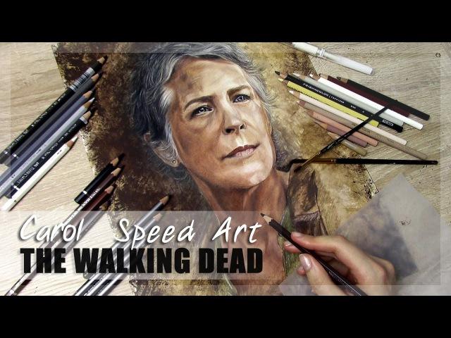 Carol (Melissa McBride) - The Walking Dead   Speed Art Painting Drawing