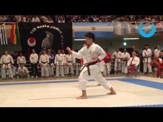 KURIHARA HIDEMOTO vs KARATE-KA (Heian Nidan) Men`s Ind. Kata - JKA World Karate Championship 2014