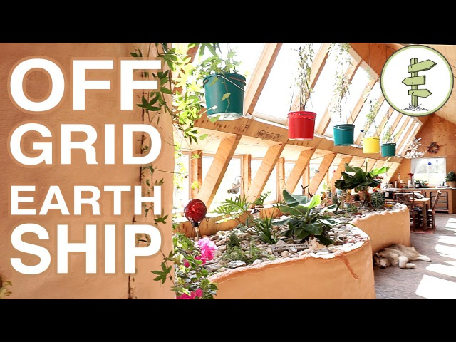 Super Efficient Off Grid Earthship Built for Early Retirement Plan