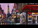 Speed Drawing Paris Time Lapse - Watercolor France Landscape Eiffel - Париж Акварель мастер-класс