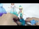 Play doh magiclip princess elsa and Anna Dolls magiclip princess dolls