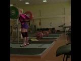Burykina Aleksandra (BLR) - Squat 142,5 kg (314lbs) @ bw 60kg - prep to Classic World Champ in Texas
