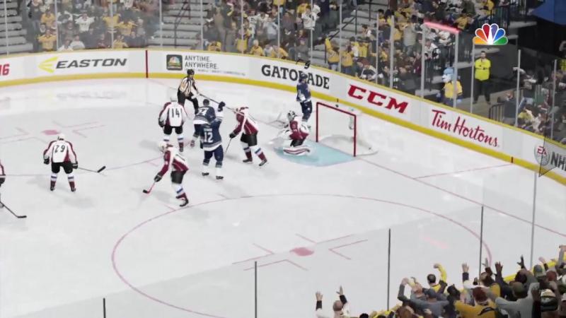 NHL 06 PS4. Regular Season 0015-2016. Colorado AVALANCHE VS Nashville PREDATORS. 0.5.2016. (NBCSN) !