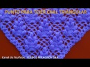 Punto a Crochet FRESITAS para tejer chal triangular en punta o en V paso a paso