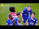 Fellaini elbows Robert Huth Fellaini punch Leicester vs Manchester United