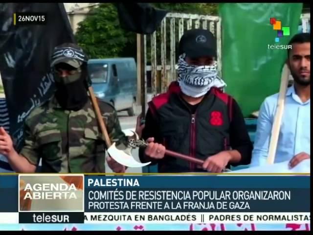 Palestinos protestan contra medida para ilegalizar movimiento islámico