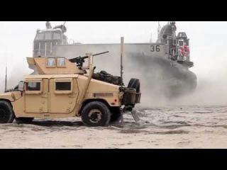Amphibious hovercraft LCAC type U S Military Hovercraft Transporter