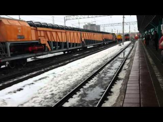 Вот такое Прибытие поезда, электропоезд электричка в Самаре