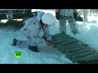Морпехи обстреляли сопки вулкана Вилючинский
