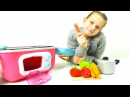 Видео для девочек. Готовим запеченную курицу на новой кухне. Лучшая подружка Оля.